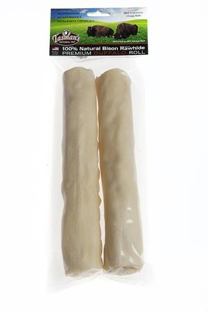 2 Large Buffalo Rawhide Rolls From Tasman S Natural Pet Co