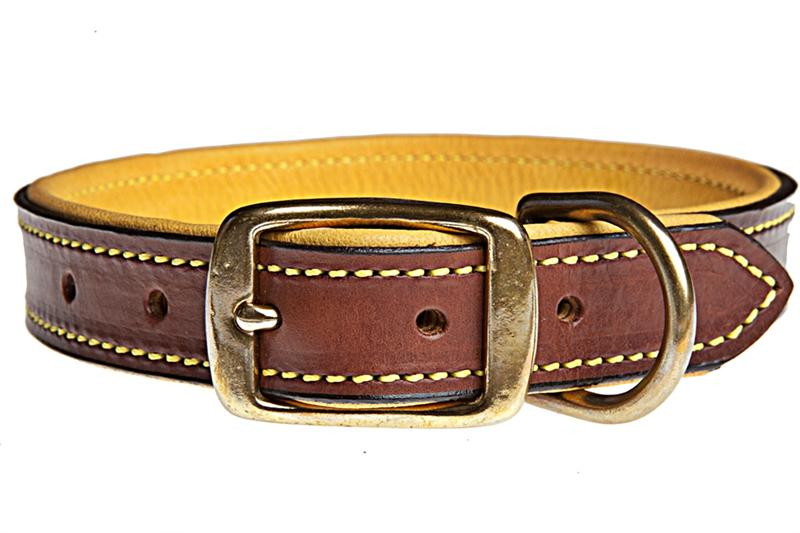 Bridle Tanned Bison Amp Elk Leather Dog Collars